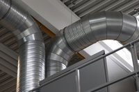 Mechanical ventilation with heat recovery system